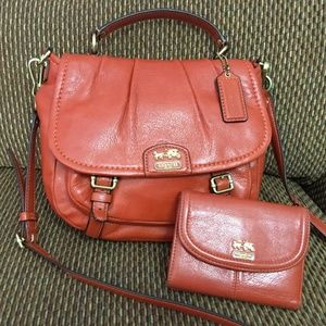 COACH SET Leather MADISON ANABELLE XBody & WALLET